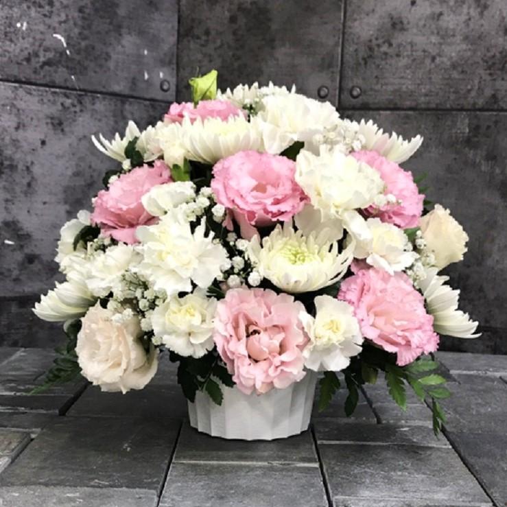 【御供】菊とカーネーションのMIXアレンジメントWP_26_MS-OS