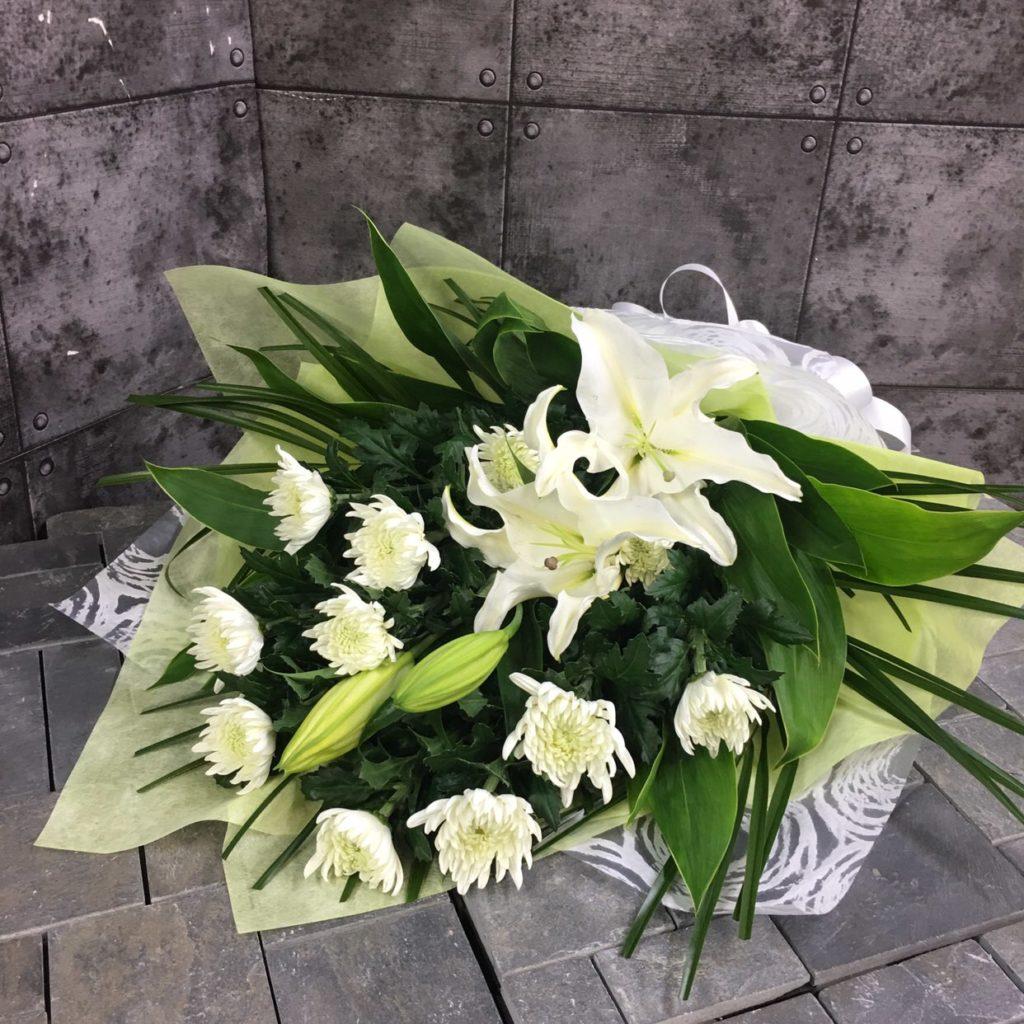 【御供】ユリと白菊の花束W_70_SP-OS