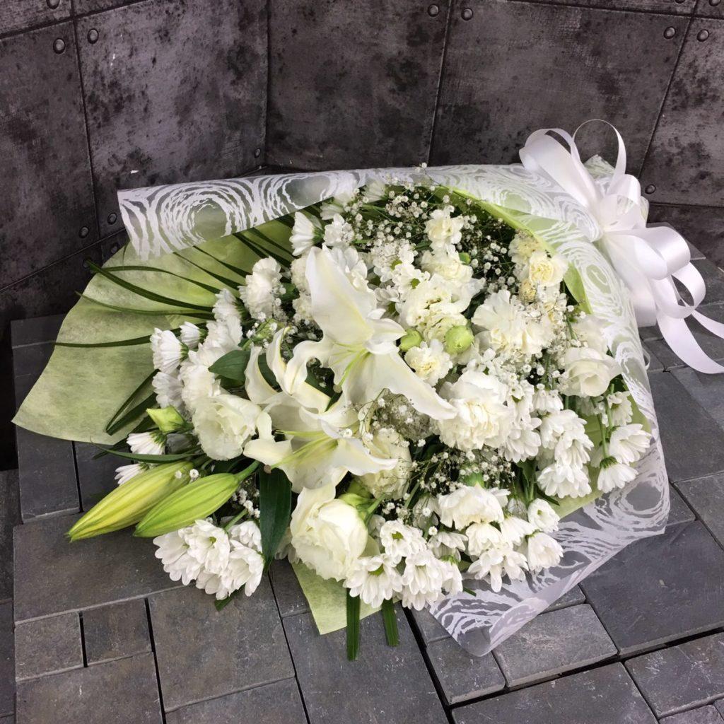 【御供】ユリとカーネーションの花束W_85_MS-OS