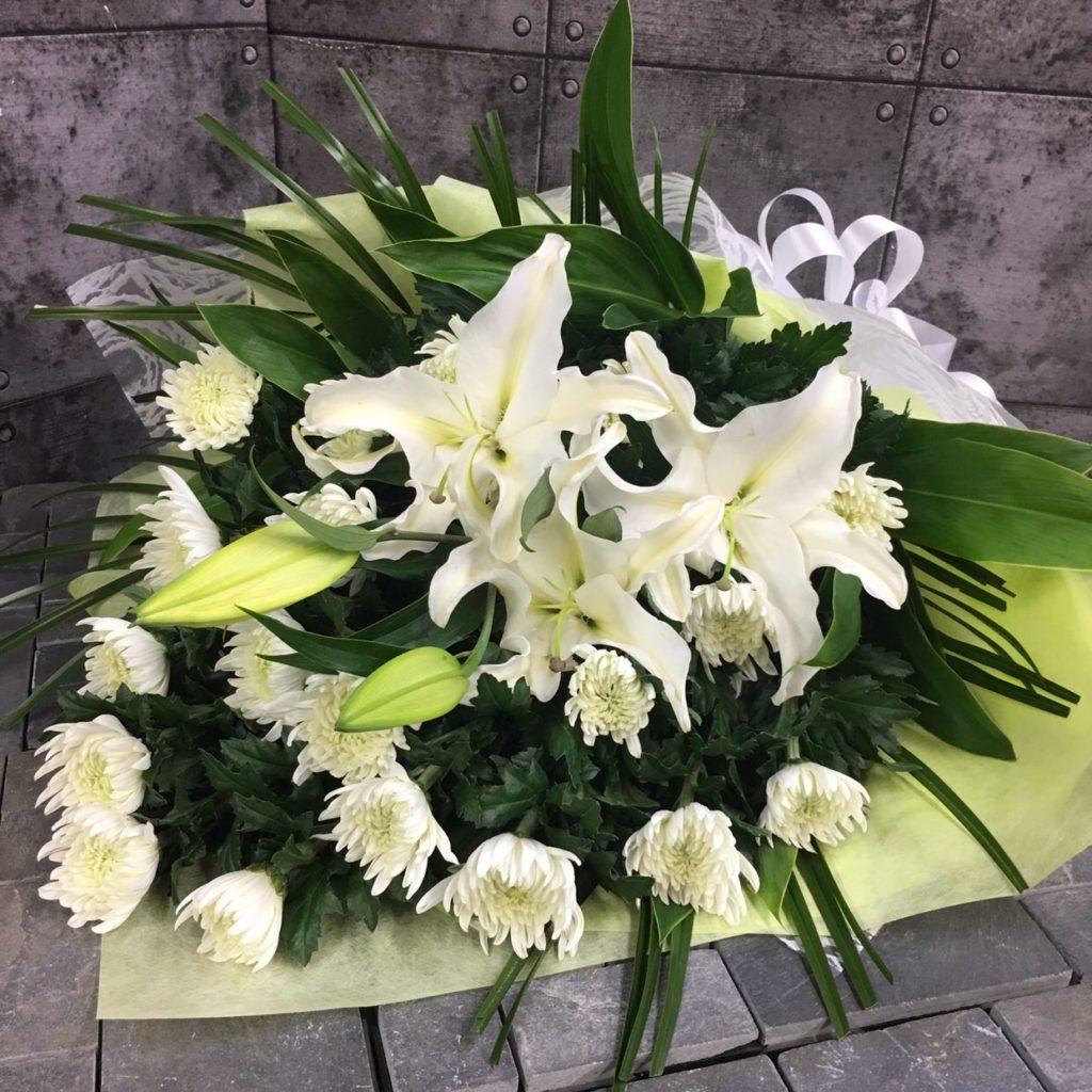 【御供】ユリと白菊の花束W_88_SP-OS