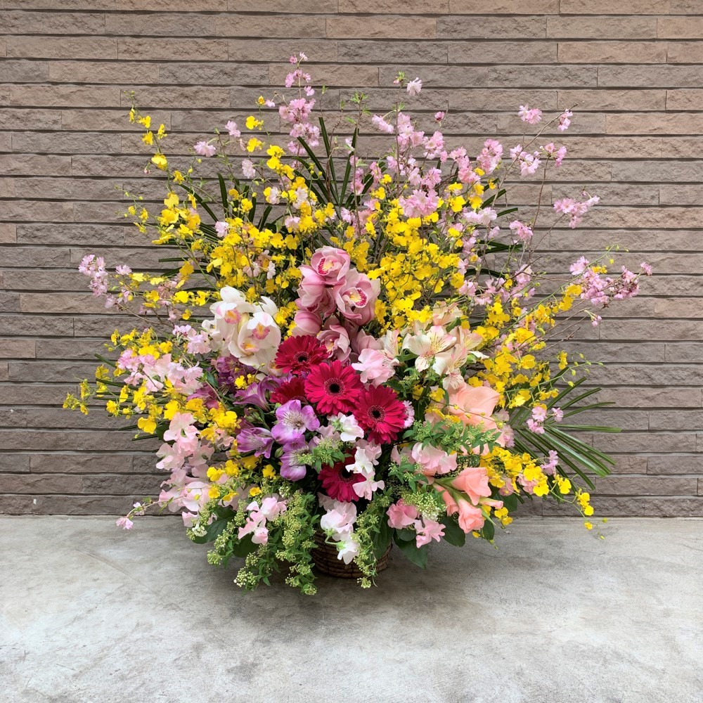 【春限定】さくらと蘭のアレンジメント897(H100)