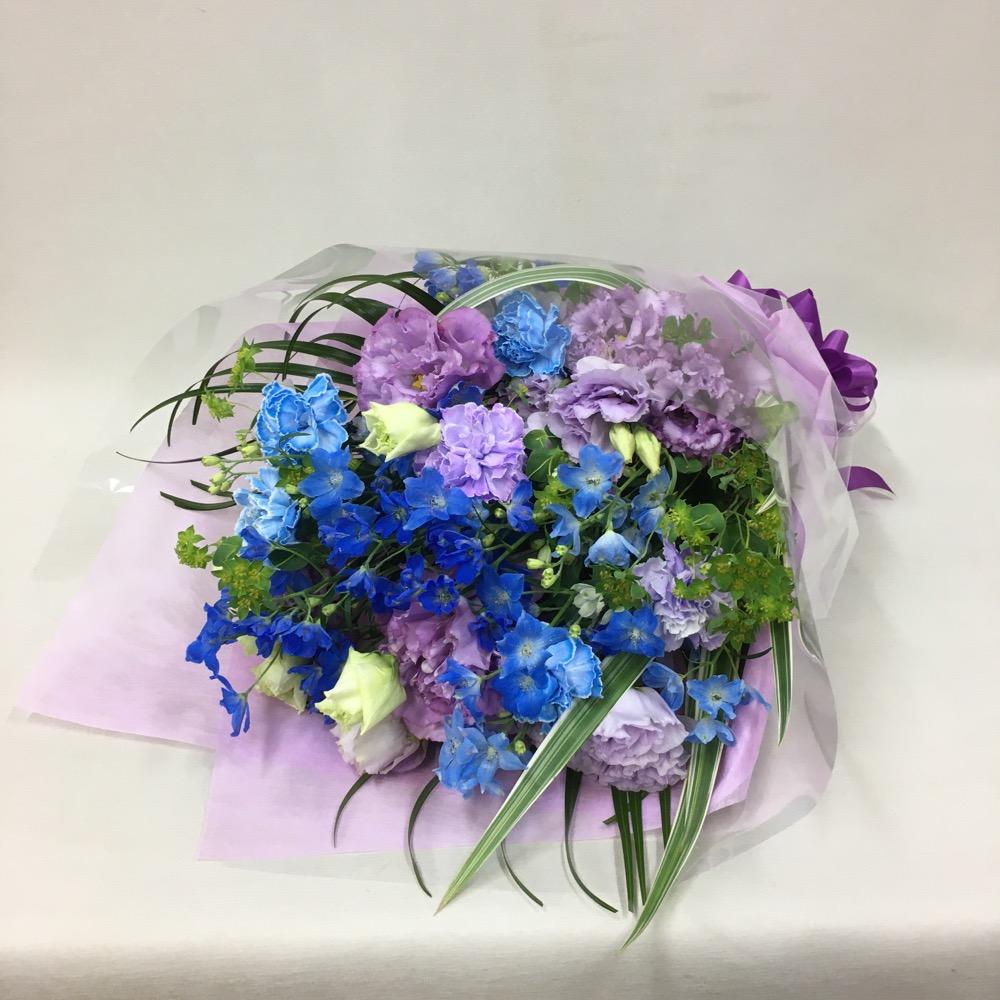 ブルーパープル系ラウンドタイプの花束 (H50)