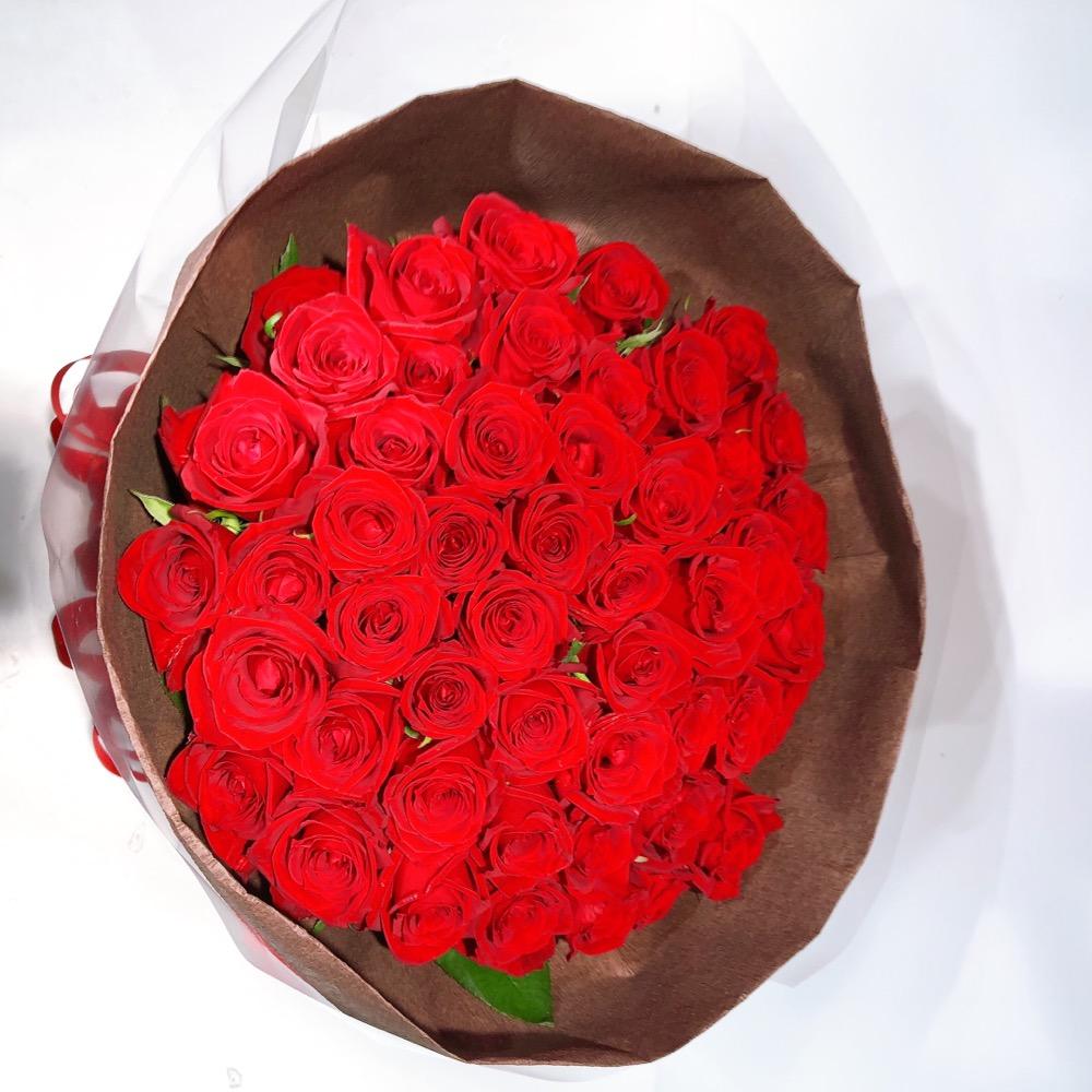 赤バラ50本花束
